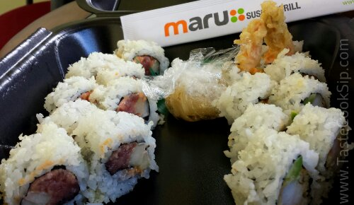 The Pick two rolls Lunch special $9.  Spicy Tuna and Shrimp Tempura rolls.