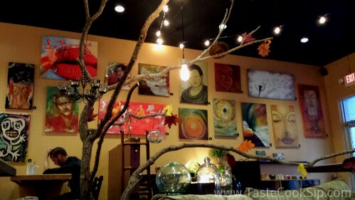 Art from Local Artists is prominently displayed