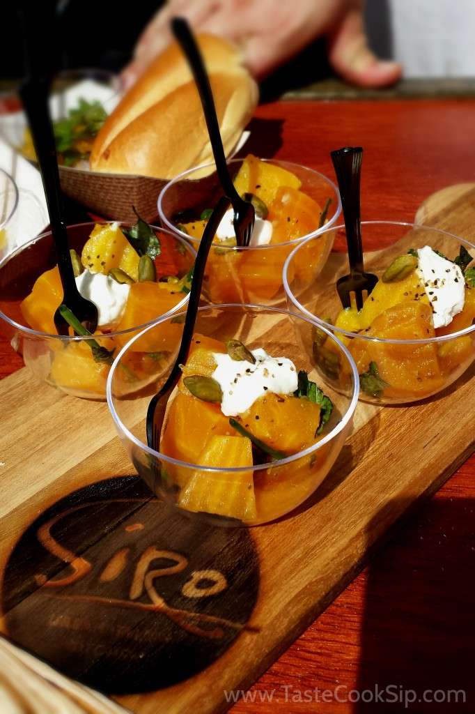 Siro had many tempting options, but the roasted golden beets won me over.