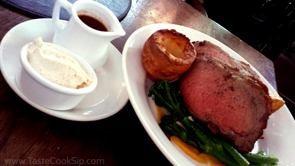 The Roast of the Day, with accompaniments.