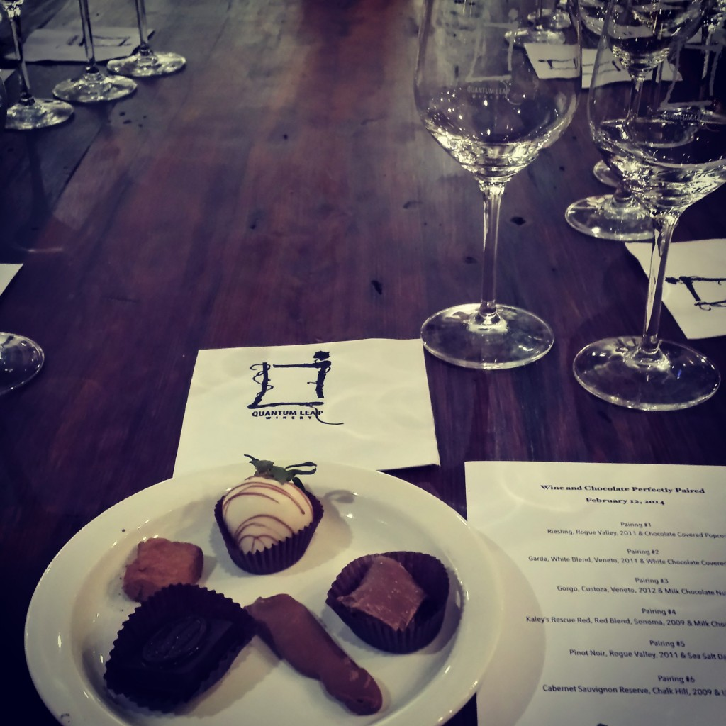 Peterbrooke Chocolatier of Winter Park confections from the February Wine and Chocolate Perfectly Paired class