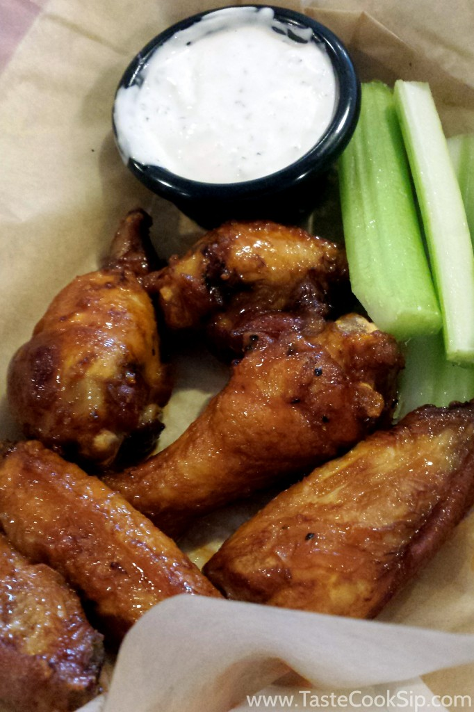 Sweet and spicy sauce is a nice twist to the meaty Buffalo wings. (Order of 6 for $6.99) Ranch or Blue Cheese available.