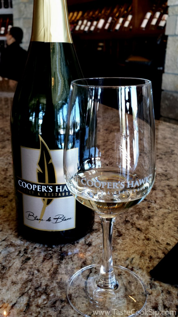 Cooper's Hawk Blanc de Blanc had crisp acidity and was a nice way to start the tasting.