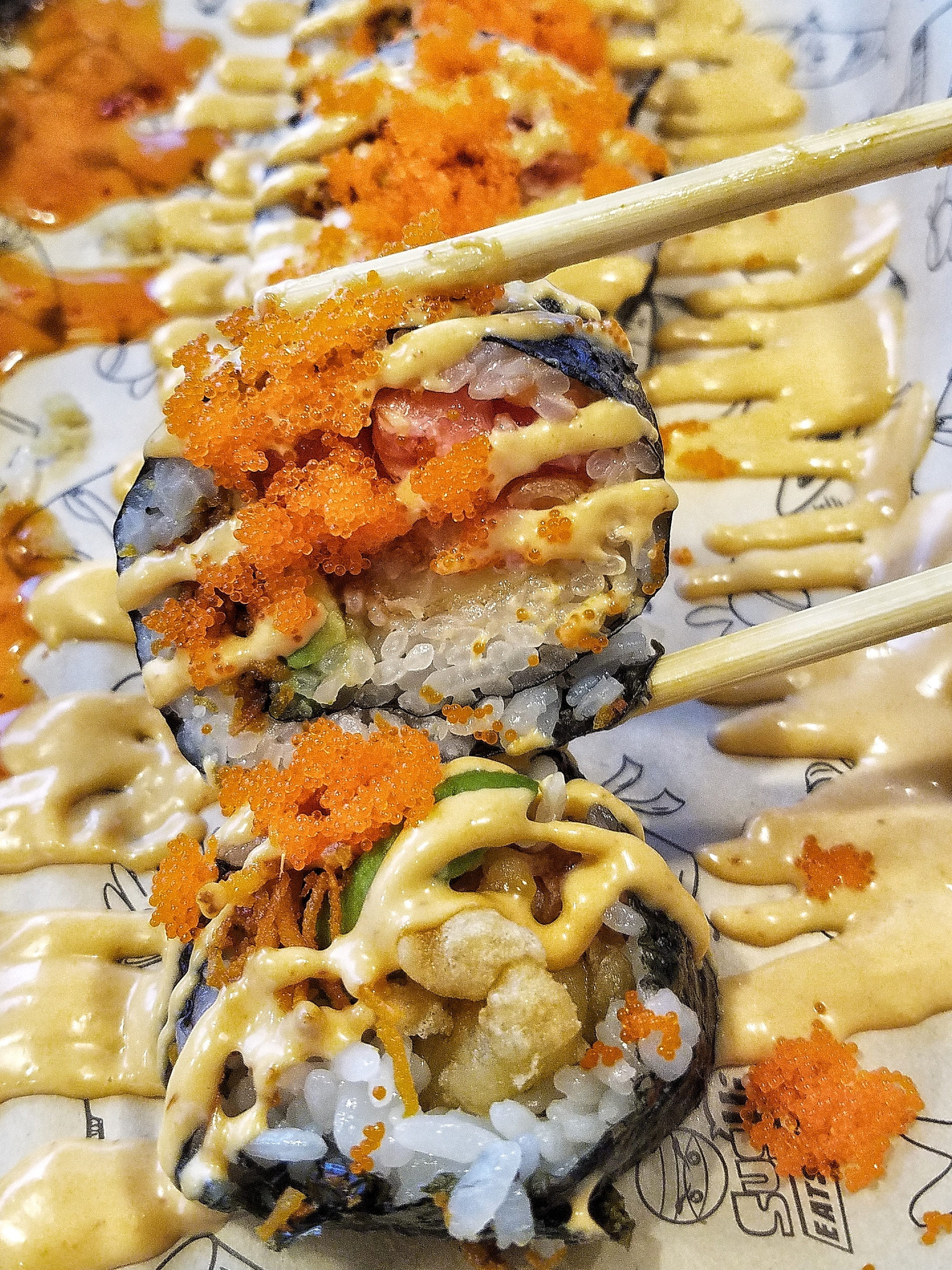 Sus Hi Eatstation Opens On Colonial Drive Taste Cook Sip Located in solana beach our talented sushi chefs can prepare any roll, sashimi, special roll, noodles. sus hi eatstation opens on colonial